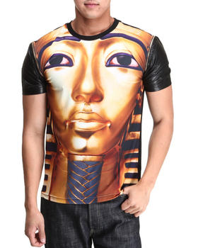 Buy Pharoah Zip - Off Faux Leather Sleeve S/S Tee Men's Shirts from Hudson NYC. Find Hudson NYC fashions & more at DrJays.com