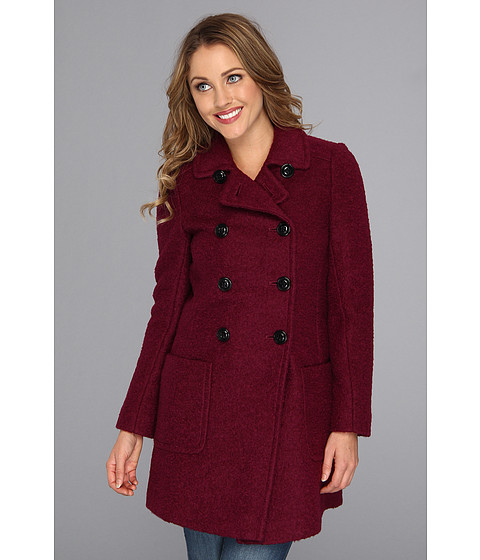 DKNY Double Breasted Boucle Jacket Wine - Zappos.com Free Shipping BOTH Ways