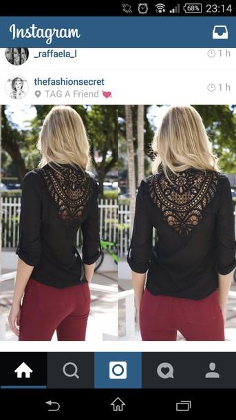 blouse black blouse skin