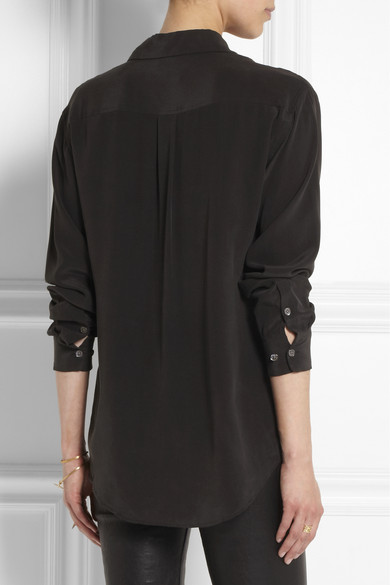 Equipment | Signature washed-silk shirt | NET-A-PORTER.COM