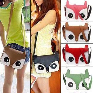 2013 Girl Women Ladies Retro Shoulder Bag Messenger Bags Tote Owl Fox Handbags   eBay