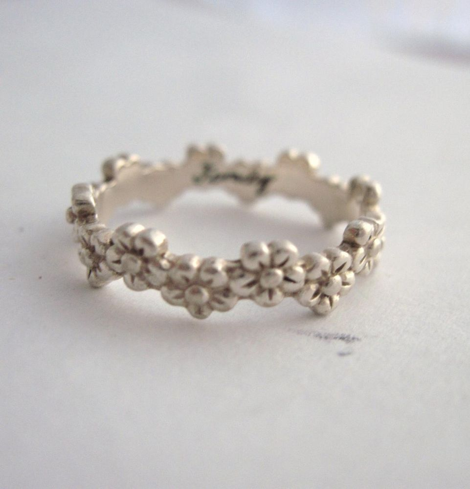 Sterling Silver I Pick You Family Floral Flower Design Ring | eBay