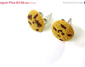 chocolate chip cookie earrings on Etsy, a global handmade and vintage marketplace.