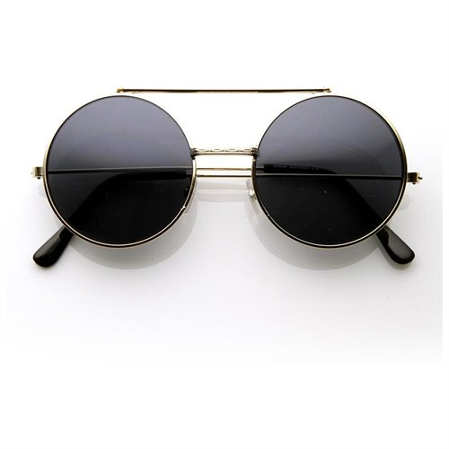 Limited Edition Color Flip-Up Lens Round Circle Django Sunglasses (Gunmetal) - Rakuten.com Shopping