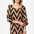 Cute Shift Dress - Chevron Dress - $42.00