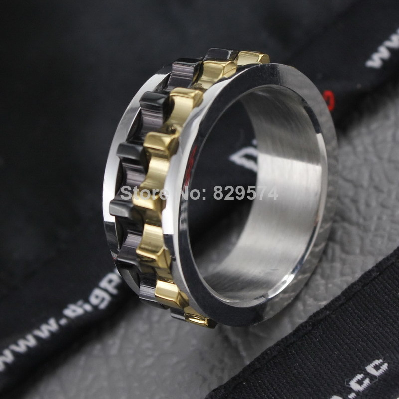 [Free Style]2014 New Arrived Brave Man Ring Jewelry,Titanium Steel Ring,Gear Design Punk Ring,Size 7 10,Free Shipping-in Rings from Jewelry on Aliexpress.com