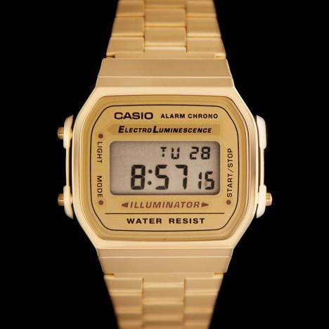 Montre casio dorée homme et femme Casio A168WG-9EF