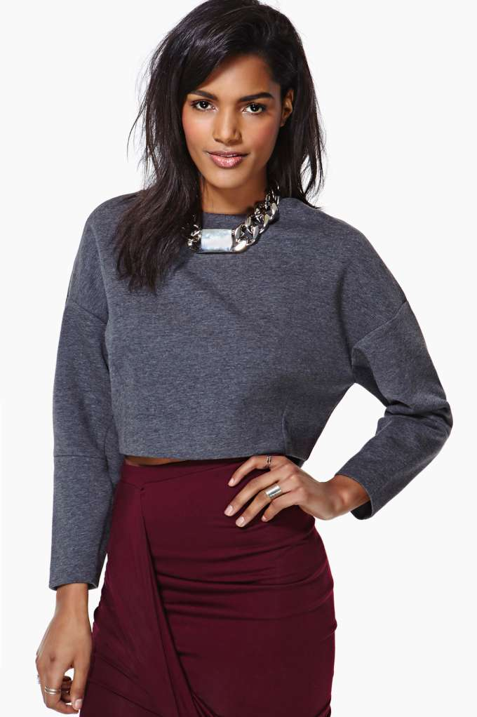 Sela Crop Sweatshirt in  Clothes Tops Cropped at Nasty Gal