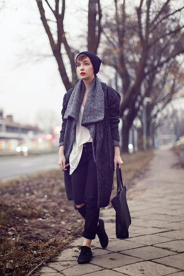 natalie's fashion workshop sweater tank top coat hat jewels pants bag