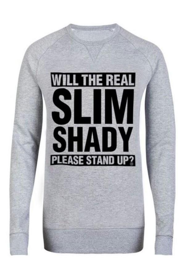 sweater grey sweater eminem slim shady