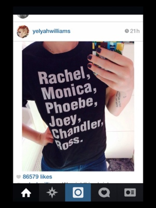 shirt hayley williams friends tv series quote on it texted cool
