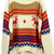 ROMWE | Asymmetric Color Block Striped Deer Pattern Cream Jumper, The Latest Street Fashion