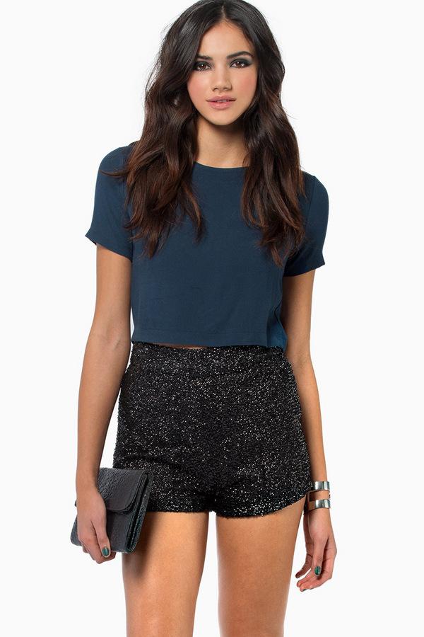 Diva Sequin Shorts - TOBI