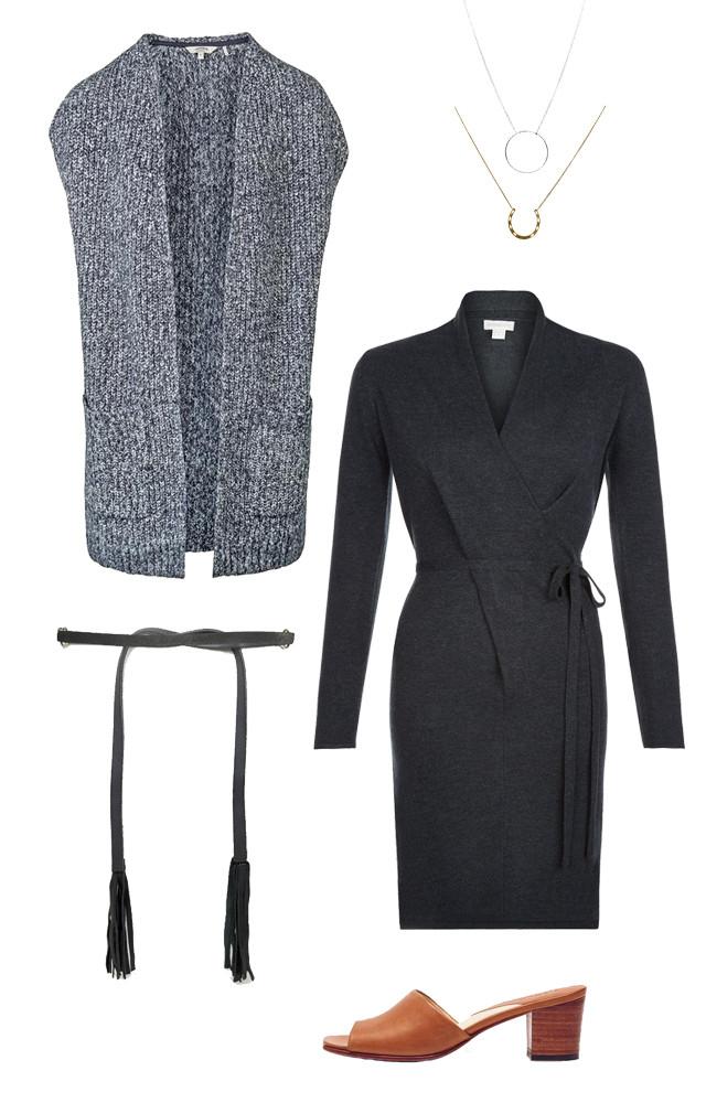 d3373abbb0c81 ... Cardigan -  54 4) Valerie V Neck Twist Dress -  105 5) Leather Tie  Waist Belt With Ring and Tassel Detail -  46 6) Elizabeth Slide Honey Mules  -  174