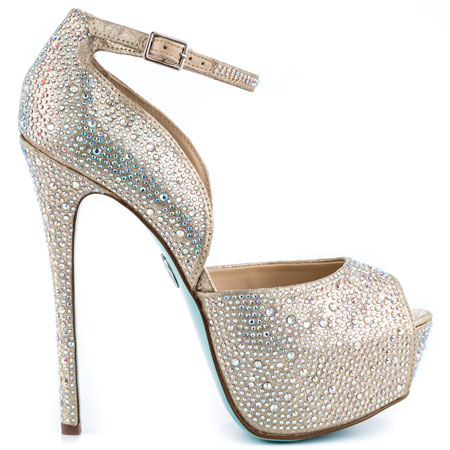 SB Kiss - Champagne, Blue by Betsey Johnson, 169.99, FREE 2nd Day Shipping!