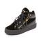 Giuseppe zanotti leather and velvet sneakers - black