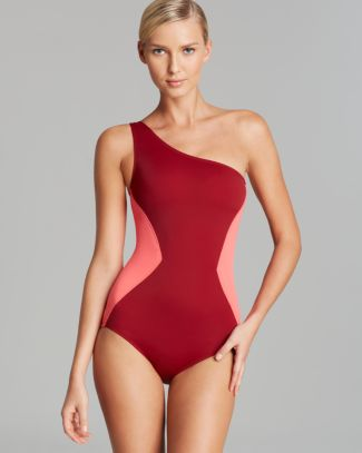 MARC BY MARC JACOBS Kite Applique One Shoulder Maillot One Piece Swimsuit   Bloomingdale's