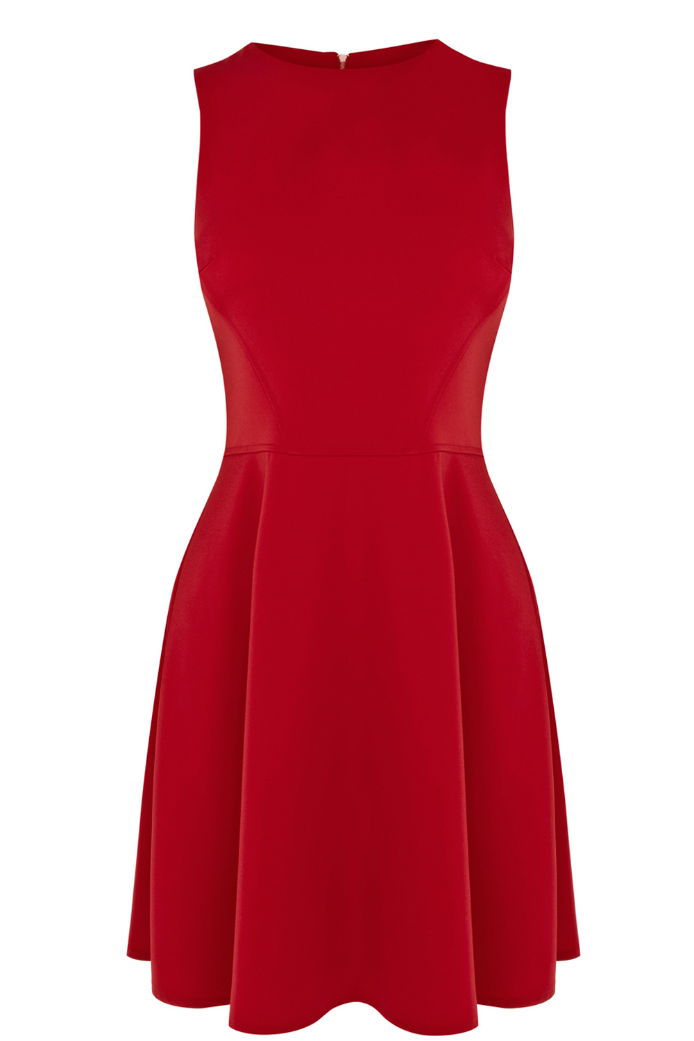   Red Going Out Skater Dress    Oasis