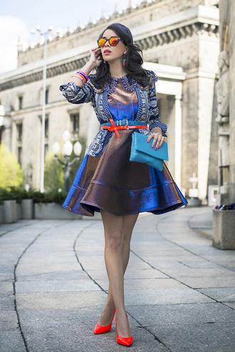 macademian girl jacket dress shoes bag belt sunglasses jewels t-shirt