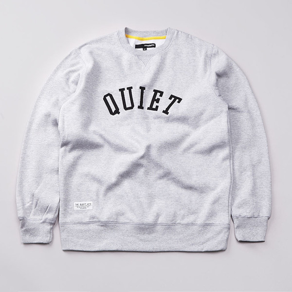 Flatspot - The Quiet Life Quiet Applique Sweatshirt Heather Grey / Black