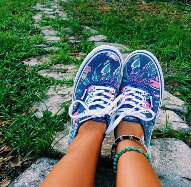 shoes vans leaves cute colorful
