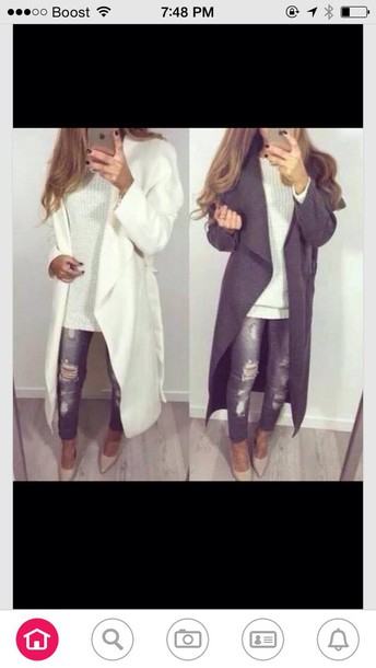 coat winter white