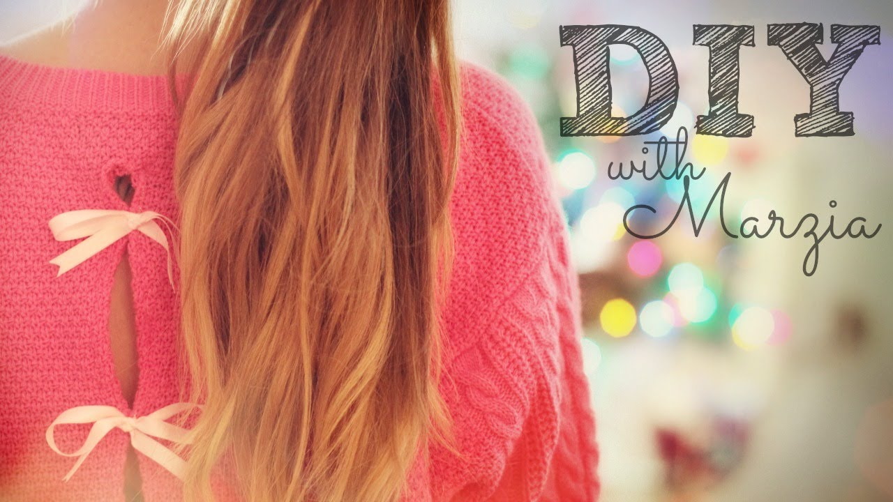 DIY Bow Sweater - YouTube