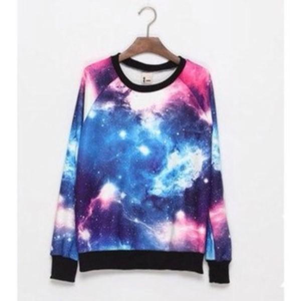 sweater galaxy print