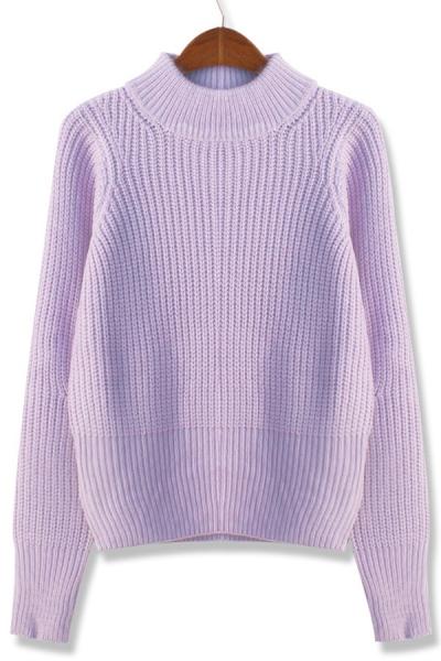 Fireside High Neckline Sweater - OASAP.com