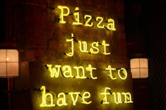 mahayanna blogger pizza lamp home accessory quote on it neon light