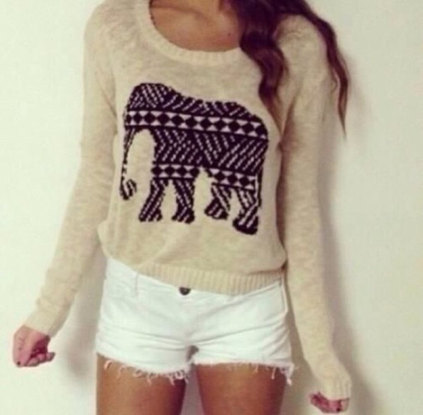 sweater elephant girly hipster