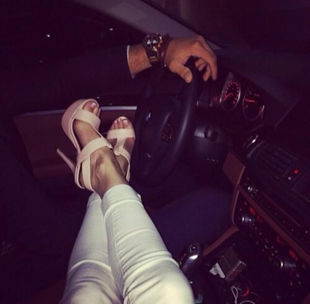 shoes high heels heels on gasoline heels car