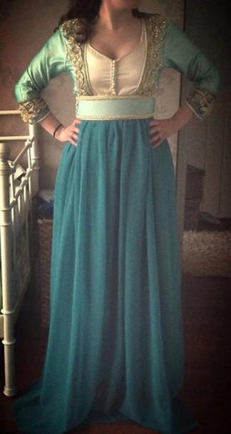 dress takchita blue dress