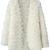 ROMWE | White Long Sleeve Shaggy Slim Cardigan Sweater, The Latest Street Fashion