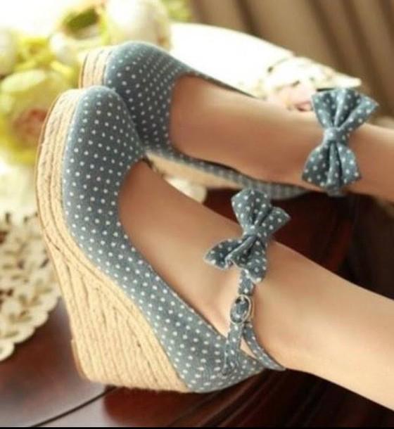 shoes heels polka dots