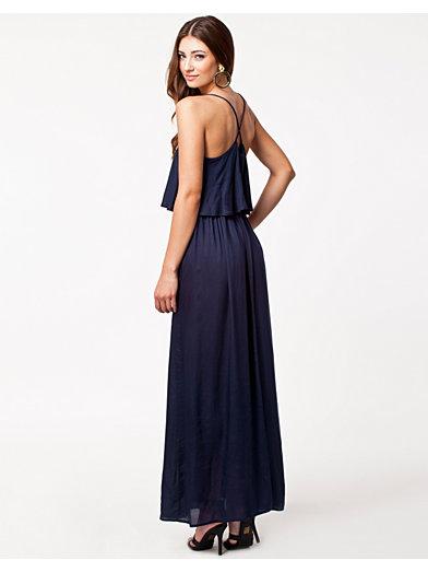 Lush Long Dress - Nly Trend - Navy - Festkjoler - Klær - Kvinne - Nelly.com