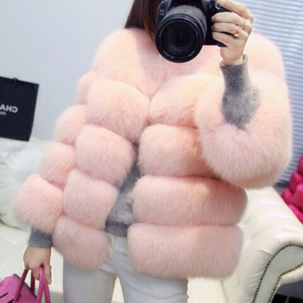 jacket fur light furry coat
