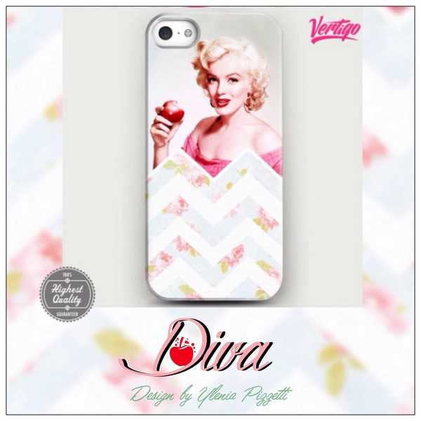 jewels iphone case girly fashion marilyn monroe vintage