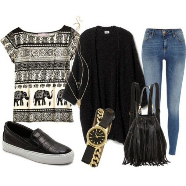 shirt elephant print buddhism lovely clothes set of clothes