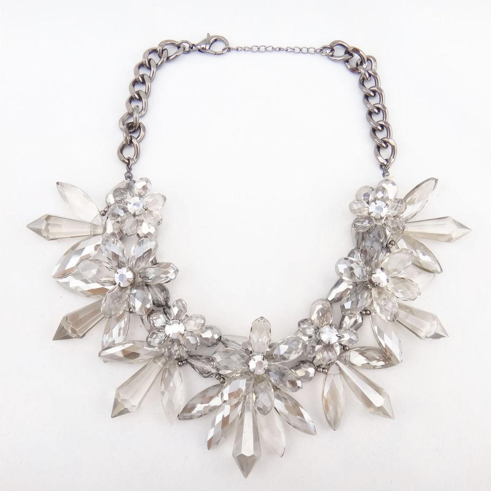 New Design Women Bib Statement Gorgeous Multi Crystal Lady Necklace Collar Hot   eBay