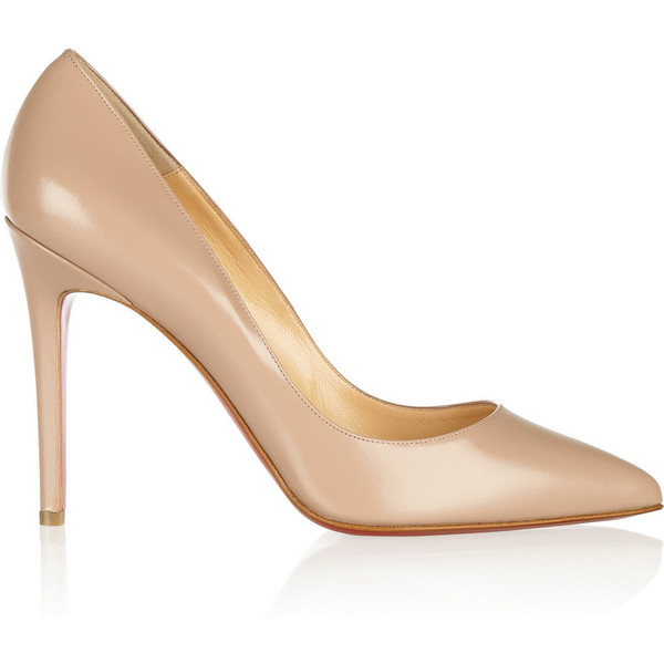 Christian Louboutin The Pigalle 100 polished-leather pumps - Polyvore