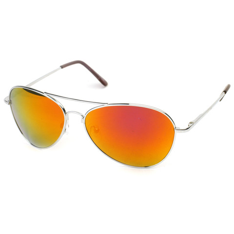 Retro Revo Color Mirrored Lens Metal Aviator Sunglasses 1485                           | zeroUV