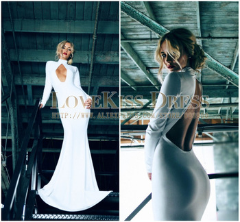 Sexy Vestidos De Fiesta High Neck Out Cut Dress With Open Back Mermaid Long Prom Gown 2014 DYQ909-in Prom Dresses from Apparel & Accessories on Aliexpress.com