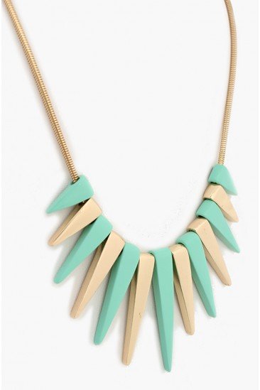 LoveMelrose.com From Harry & Molly | SPIKE NECKLACES - MINT