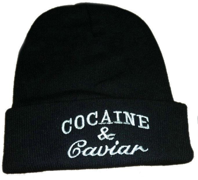 COCAINE & CAVIAR TOQUE — DIAMONDS & MILLIONAIRES