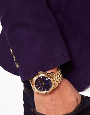Michael Kors | Michael Kors MK7049 Runway Gold Watch at ASOS