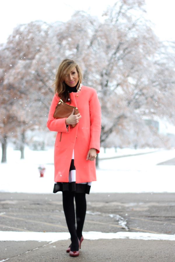 lilly's style coat sweater skirt shoes bag