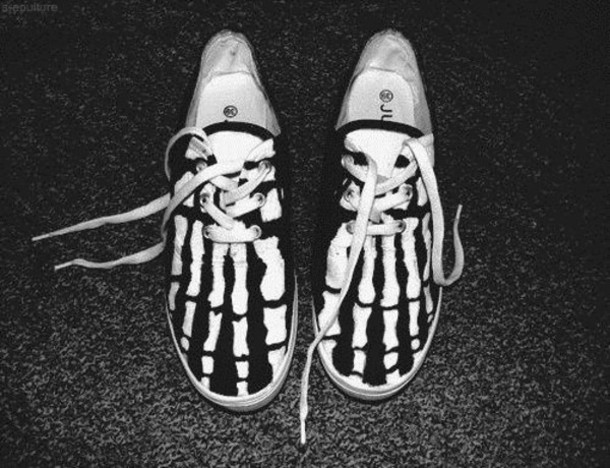 shoes sneakers skeleton