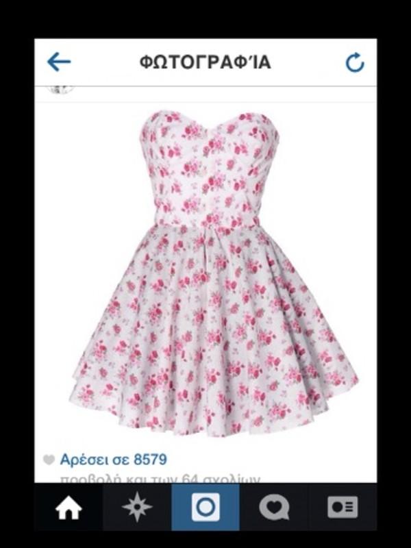 dress floral white floral short dress floral dress flowers floral dress floral pink pink dress skater dress