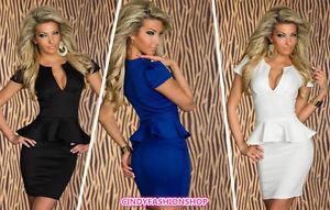 Hot Sale Women Lady Sexy Fashion U Neck OL Peplum Dress Party Bodycon Dresses | eBay